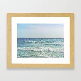 Ocean Crashing Waves Framed Art Print