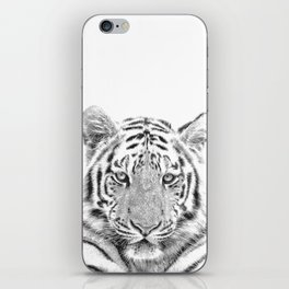 Black and white tiger iPhone Skin