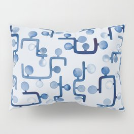 Blue Watercolour Zig Zag Pillow Sham