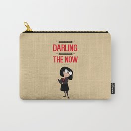 Lab No. 4 I Never Look Back Edna 'E' Mode The Incredibles Movie Quote Poster Carry-All Pouch