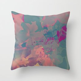 The colors in Flowers Throw Pillow