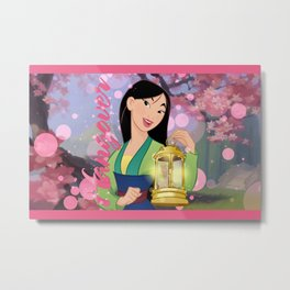 Hangover Collection: Mulan feat Tinkerbel Metal Print