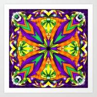 Ha Ha Ha Kaleidoscope Design Art Print