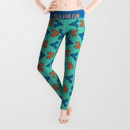 Sea for fun (green) Leggings