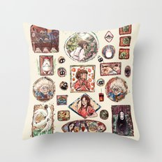 Spirited Away Portrait Wall Throw Pillow