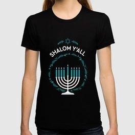Shalom Y'all Hanukkah Menorah T-shirt