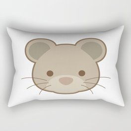 Cute mouse portrait cartoon Rectangular Pillow