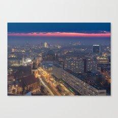 Sunset in Berlin Canvas Print