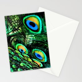 Oiled Peacock Stationery Cards
