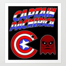 Captain Pacmerica Art Print