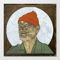 steve zissou Canvas Prints featuring Steve Zissou by Philipp Banken