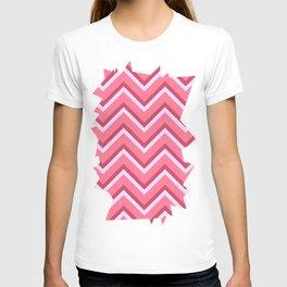 Pink Zig Zag Pattern T-shirt