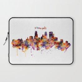 Minneapolis Watercolor Skyline Laptop Sleeve