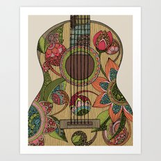 The Guitar  Art Print
