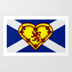 FOR THE LOVE OF SCOTLAND   - 003 Art Print