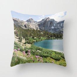 Sierra Alpine Wildflowers Throw Pillow
