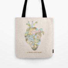 A Traveller's Heart (UK) Tote Bag