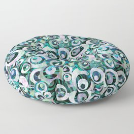 Abalone Mother of Pearl Circle Pattern Floor Pillow