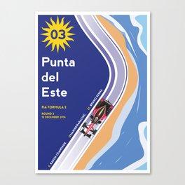 Mahindra Racing FIA Formula E Season One Race 03 Punta del Este ePrix Poster Canvas Print