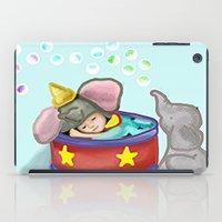 baby elephant iPad Cases featuring Baby Elephant  by grapeloverarts