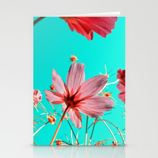 cosmos flowers abstract I Stationery Cards