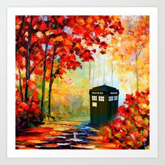 TARDIS PAINTING Art Print