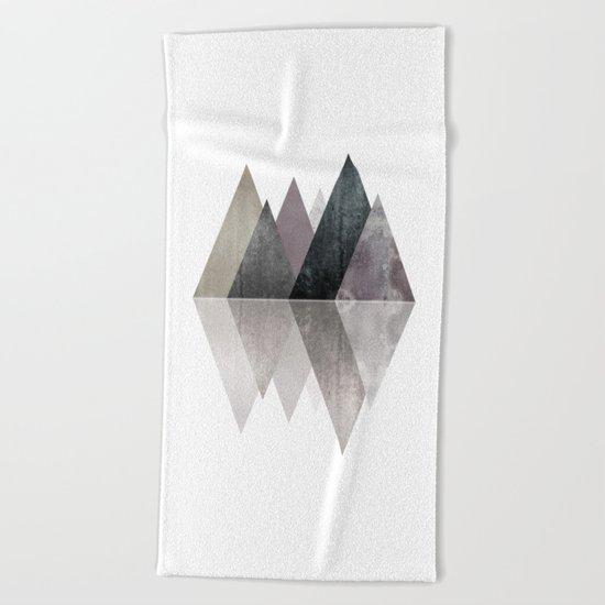 Modern Scandinavian Mountain Beach Towel