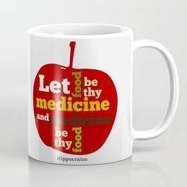 Apple Let food be thy medicine and medicine be thy food. Coffee Mug