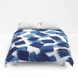 Indigo Brush Strokes | No.1 Comforters