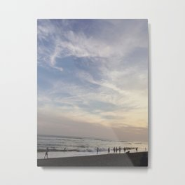 Sunset by the beach in Bali Metal Print