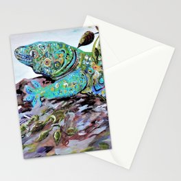 New Caledonia Lizard Art Deco Style Stationery Cards