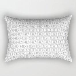 HD Soap Black Tiled on White Rectangular Pillow