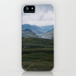Green Mountains in Denali National Park iPhone Case