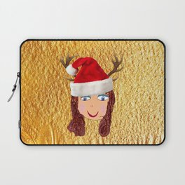 Gold Christmas | Kids Painting | Christmas Spirit Laptop Sleeve