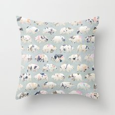 Psychedelic Bears Throw Pillow