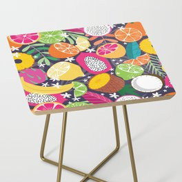 Tropical fruit pattern 01 Side Table