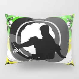 Skate wheels Punk Pillow Sham
