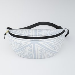 Simply Tribal Tile in Sky Blue on Lunar Gray Fanny Pack