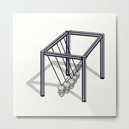Kinetic Skull  Metal Print