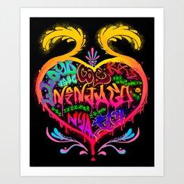 Ninjago Graffiti Tee Art Print