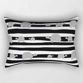 Silver turtle pattern Rectangular Pillow