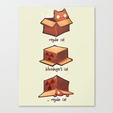 Schrödinger's cat Canvas Print