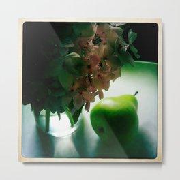 lightplay on fruit and flower Metal Print