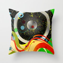 Jazz Musical Background Throw Pillow