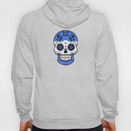 Sugar Skull with Roses and Flag of Nicaragua Hoody