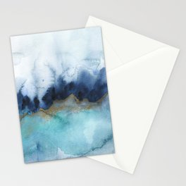 Mystic abstract watercolor Stationery Cards