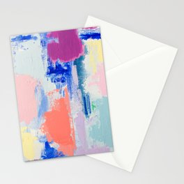 MAVEN 3 // ABSTRACT MIXED MEDIA ON CANVAS Stationery Cards