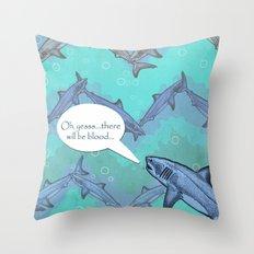 Sharkron 2 Throw Pillow