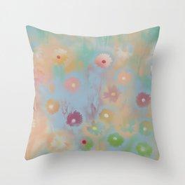 Pastel Daisies Throw Pillow
