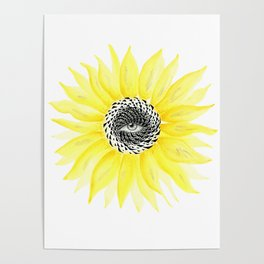 The Sunflower Eye Poster